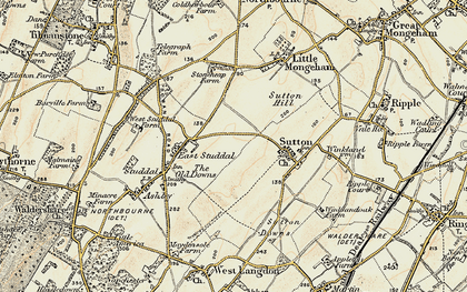 Old map of White Cliffs Country Trail in 1898-1899