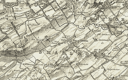 Old map of Whitehouse in 1901-1904