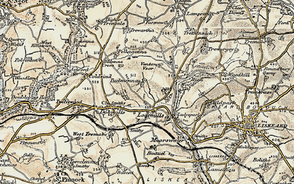 Old map of East Tuelmenna in 1900