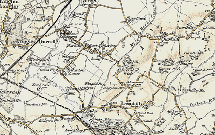 Old map of East Tytherton in 1898-1899