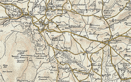 Old map of Addiscott in 1899-1900