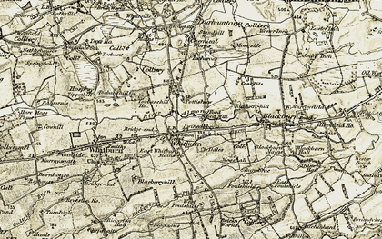 Old map of Latch Burn in 1904-1905