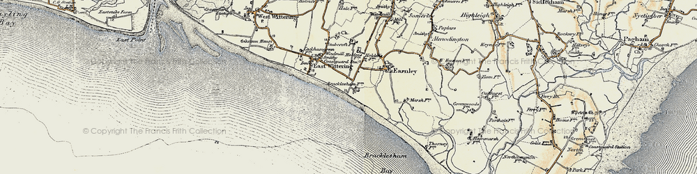 Old map of East Wittering in 1897-1899