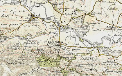 Old map of Abbey Hill in 1904