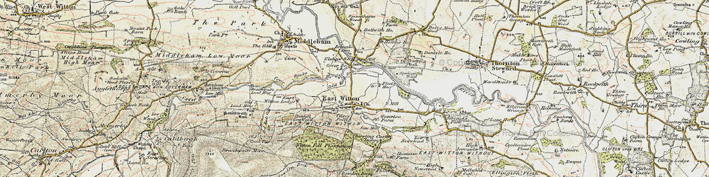Old map of East Witton in 1904