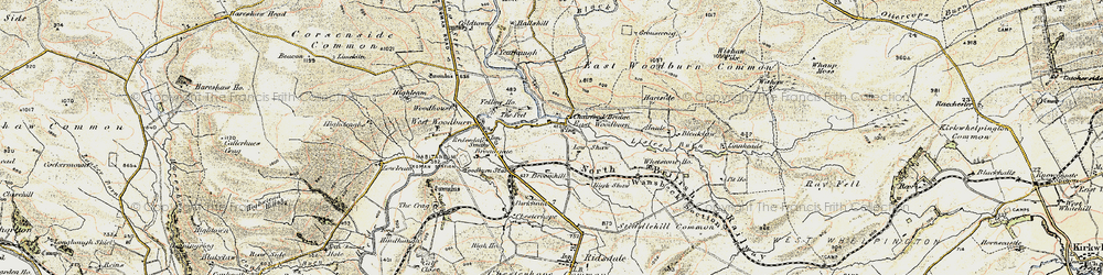 Old map of Whetstone Ho in 1903