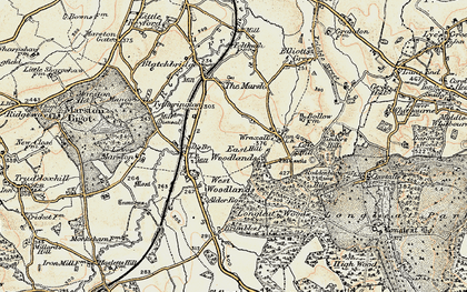 Old map of Wraxall Hill in 1897-1899