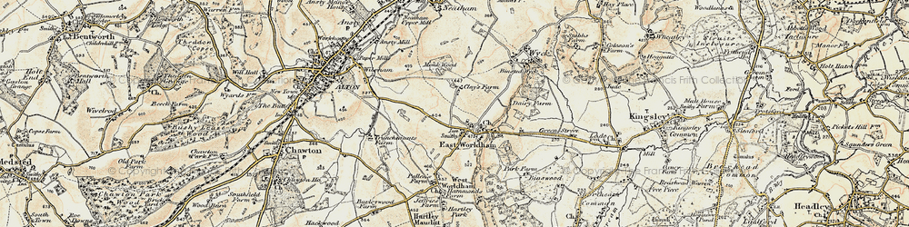 Old map of East Worldham in 1897-1909