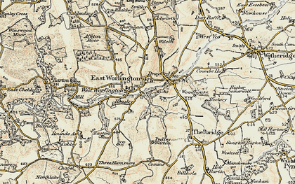 Old map of Adworthy in 1899-1900