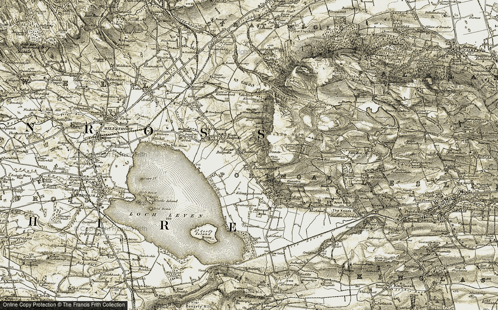Old Map of Historic Map covering Balnethill in 1903-1908