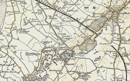 Old map of Easter Compton in 1899