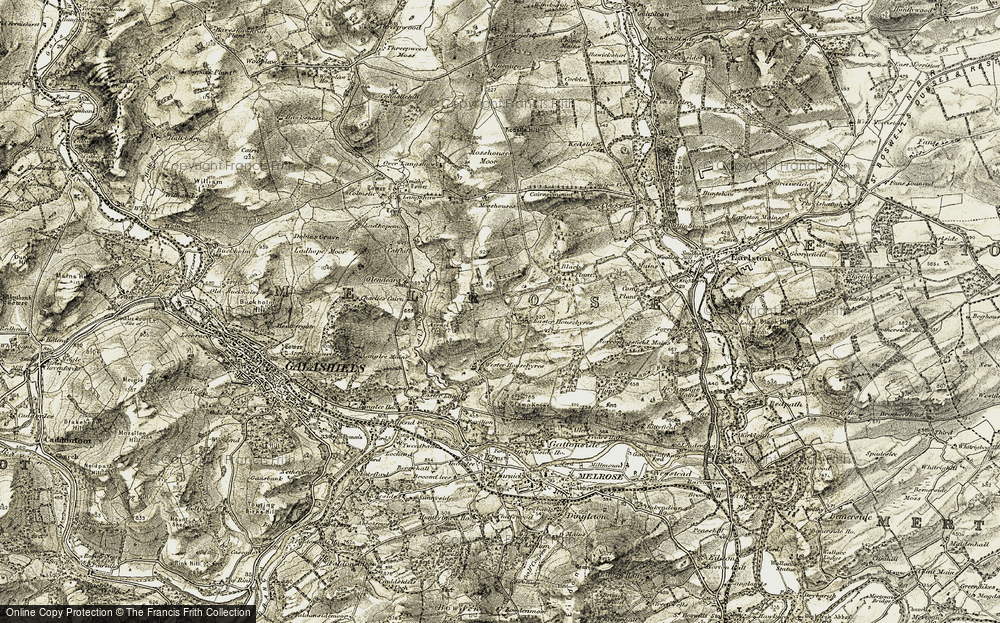 Old Map of Historic Map covering Avenel Plantn in 1901-1904