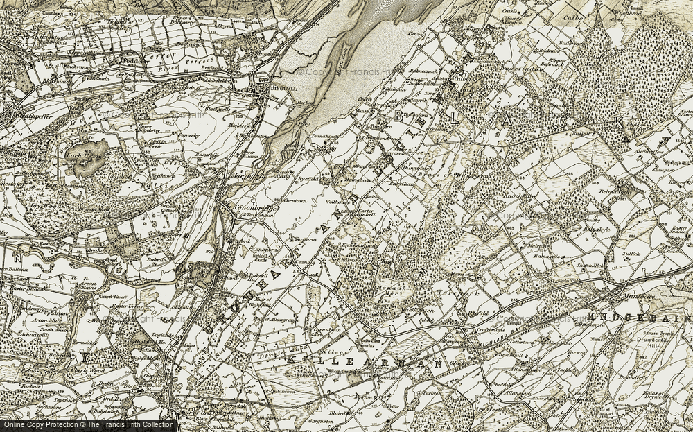 Old Map of Historic Map covering Ashburn in 1911-1912