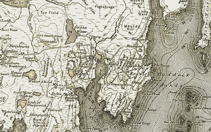 Old map of Aaskerry Taing in 1911-1912