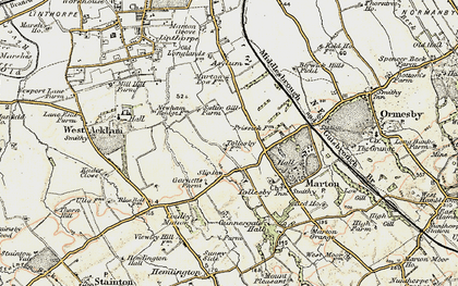 Old map of Easterside in 1903-1904