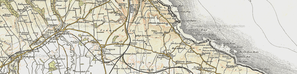 Old map of White Nab in 1903-1904