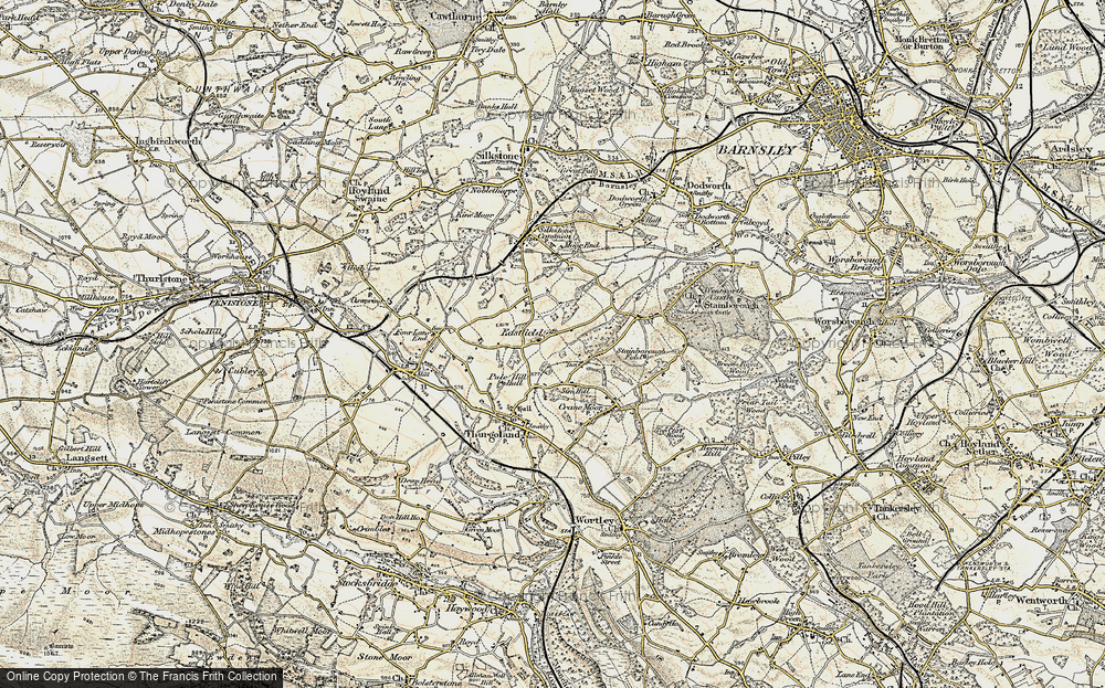 Old Map of Historic Map covering Bagger Wood in 1903