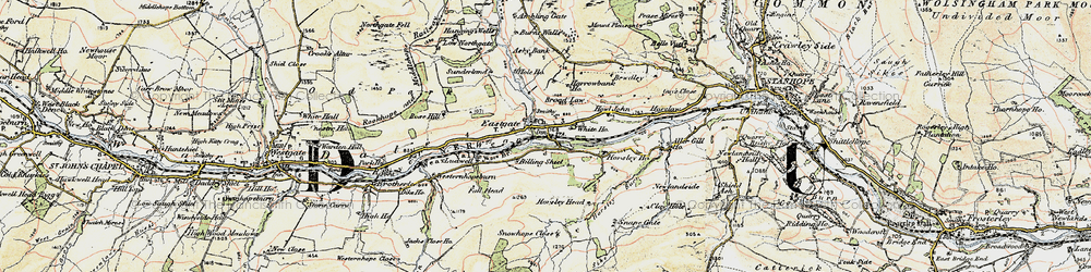Old map of Eastgate in 1901-1904