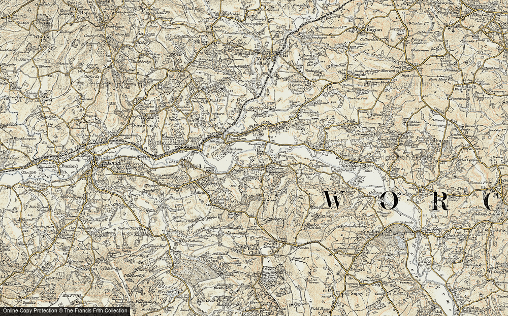 Old Map of Eastham, 1901-1902 in 1901-1902