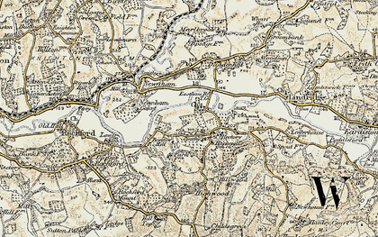 Old map of Eastham in 1901-1902
