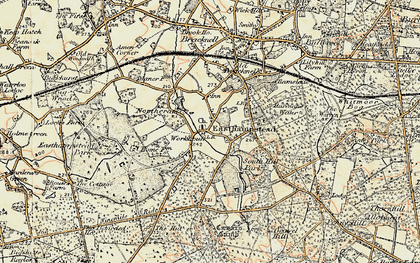Old map of Easthampstead in 1897-1909