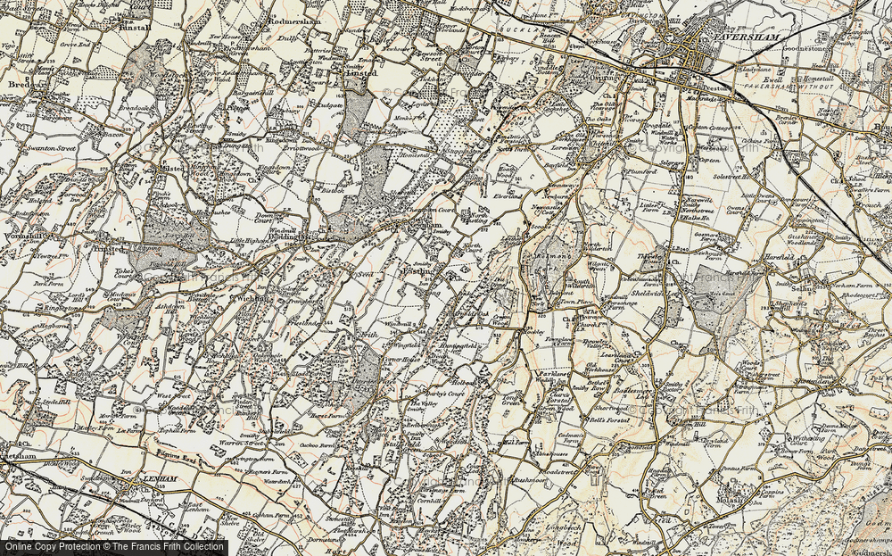 Old Map of Historic Map covering Tong Ho in 1897-1898