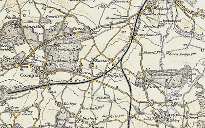 Old map of Easton in 1899