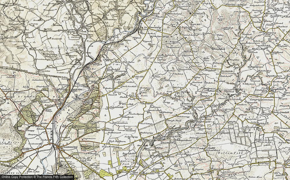 Old Map of Historic Map covering Baileytown in 1901-1904