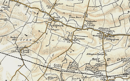 Old map of Whitleather Lodge in 1901