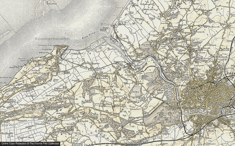 Old Map of Easton-in-Gordano, 1899 in 1899