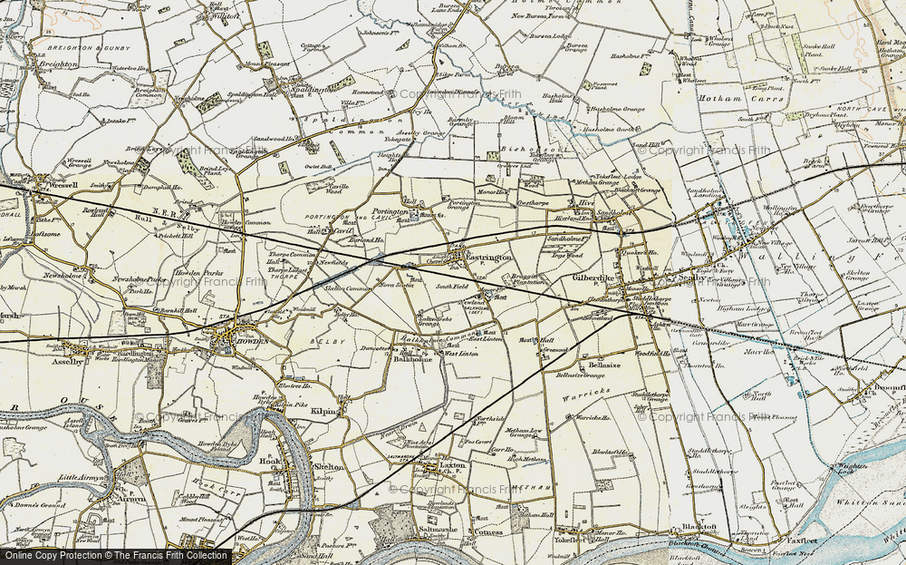 Old Map of Historic Map covering Balkholme Common in 1903