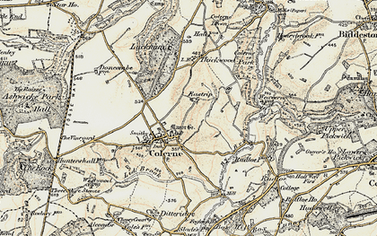 Old map of Eastrip in 1899