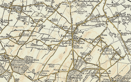 Old map of Eastry in 1898-1899