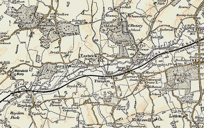 Old map of Eastwick in 1898