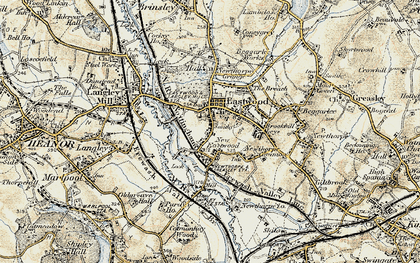 Old map of Eastwood in 1902