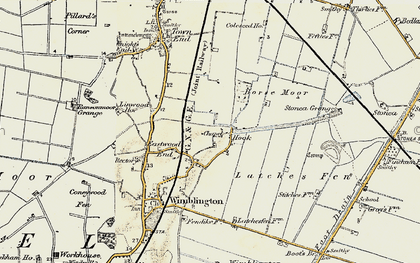 Old map of Latches Fen in 1901