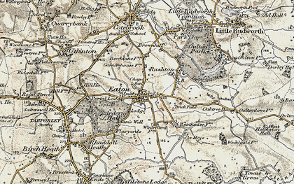 Old map of Eaton in 1902-1903
