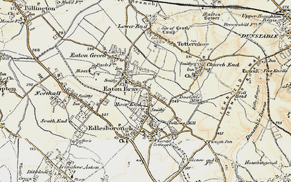 Old map of Eaton Bray in 1898-1899