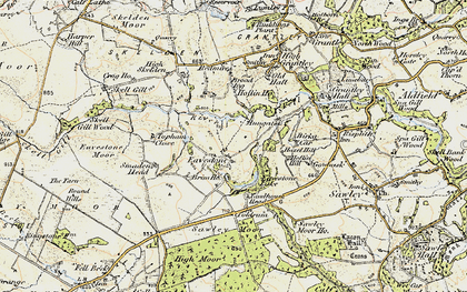 Old map of Yaudhouse Head in 1903-1904