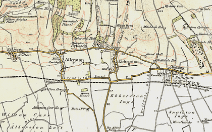 Old map of Allerston Partings in 1903-1904