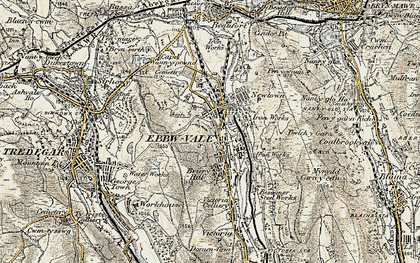 Old map of Ebbw Vale in 1899-1900