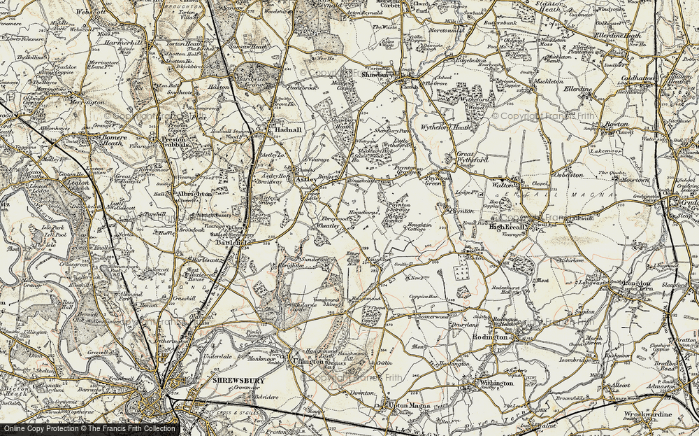 Old Map of Historic Map covering Wheatley in 1902