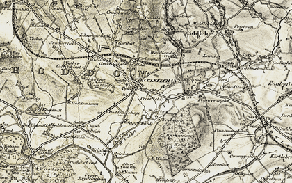 Old map of Ecclefechan in 1901-1904