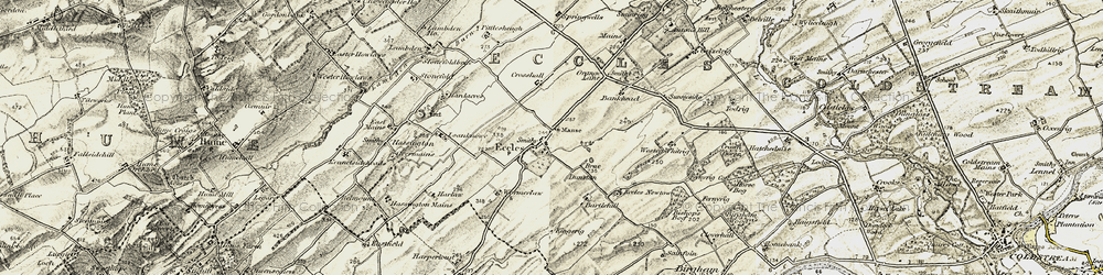 Old map of Whitrig in 1901-1904