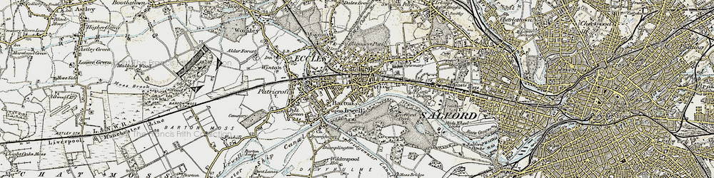 Old map of Eccles in 1903