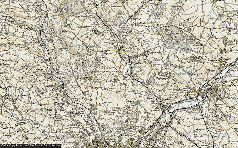 Old Map of Ecclesfield, 1903 in 1903