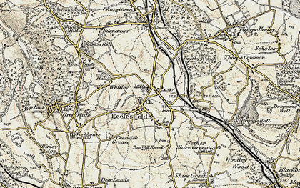 Old map of Ecclesfield in 1903