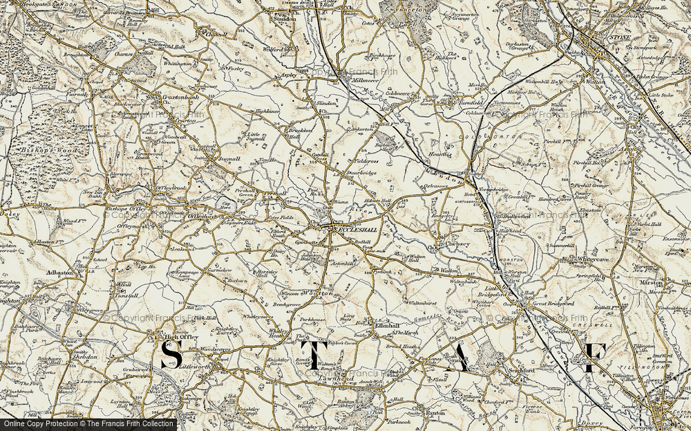 Old Map of Eccleshall, 1902 in 1902