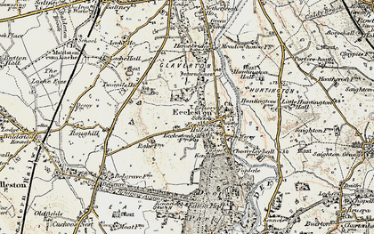 Old map of Eccleston in 1902-1903
