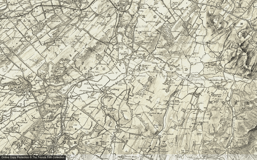 Old Map of Historic Map covering Wooden Loch in 1901-1904
